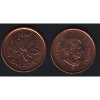 Канада _km490 1 цент 2008 год km490a магнит (f31)