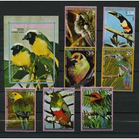 Экваториальная Гвинея 1974г. птицы. 7м. 1 блок