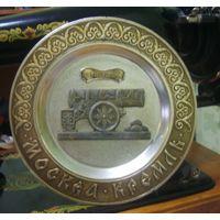 Сувенирная тарелка царь пушка