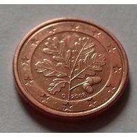 1 евроцент, Германия 2008 D