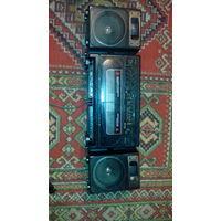 Магнитофон 2 кассетный sanyo