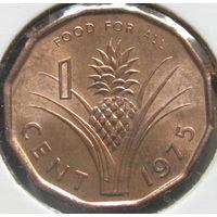 Свазиленд 1 цент 1975 КМ#21 ФАО в холдере