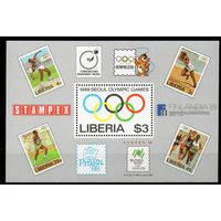 Спорт Либерия 1988 год 1 чистый блок (М)