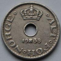 Норвегия, 10 эре 1938 г
