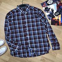 Мужская рубашка размер XL, 43-44 см по вороту - смотрите замеры