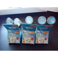 Лампочки галогенные 8 штук (3 новые и 5 б/у) 50 ватт, 220 вольт, 50 мм, GX5.3  (6 Feron и 2 Kanlux)