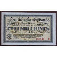 Германия (Darmstadt), 2 000 000 марок 1923 год, aUNC