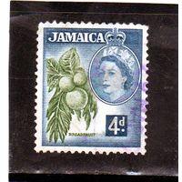 Ямайка.Ми-166. Хлебное дерево. Серия: Королева Елизавета II и местные сцены (1956-58).