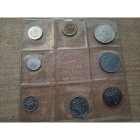 Сан-Марино официальный набор 1974 года (500 лир - серебро),