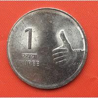 76-32 Индия, 1 рупия 2011 г.  м.д. - Ноида
