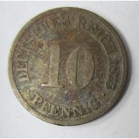 Германия. 10 пфеннигов 1875 А.  2-91