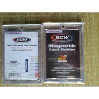Два магнитных холдера BCW 180 pt. для хранения карточек.