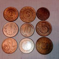 Монеты разных стран мира с рубля . 14 лот.