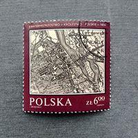 Марка Польша 1982 год. Исторические карты
