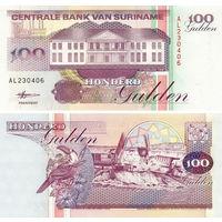 Суринам 100 гульденов 1998  год  UNC