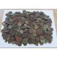 Медные монеты Российской империи,18-19-20 века,свыше 550 шт.!не перебирались+БОНУС-см.ОПИСАНИЕ,С РУБЛЯ