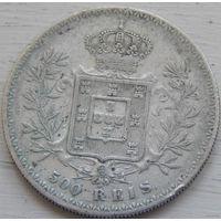 25. Португалия 500 рейс 1896 год. серебро.*