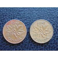 Канада 1977 г. 1 цент. Елизавета II.