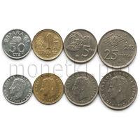 Испания 4 монеты 1980-1982 годов. Чемпионат мира по футболу 1982 (VF-XF)