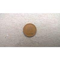 Литва 10 центов, 1991г.  **