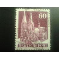 Германия 1948 L14 англо-амер. зона 60 пф. Кельнский собор
