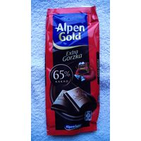 "Обёртка шоколада ""Alpen Gold"" 65%. распродажа"
