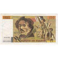 Франция 100 франков 1978.  серия Z4 282298