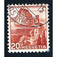 62: Швейцария, почтовая марка, 1936 год, номинал 20с, SG#491