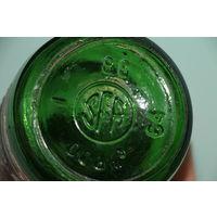 Ретро СССР! Бутылка из-под советского шампанского 1988 год с родной этикеткой и пробкой