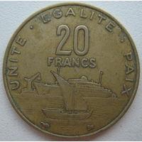 Джибути 20 франков 1999 г.