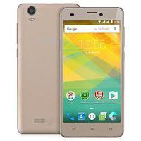 "Prestigio Wize NK3 PSP3527 Android, экран 5"" TFT (480x854), Spreadtrum SC7731, флэш-память 4 ГБ, карты памяти, камера 5 Мп, аккумулятор 2000 мАч, 2 SIM, цвет золотистый, отличное состояние, по работе"
