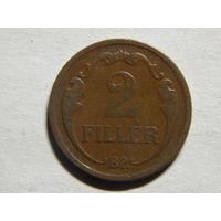 Венгрия 2 филлера 1928г