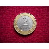 Литва 2 лита 1999 г.