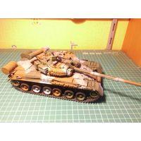 Модель танка Объект 219РВ (Т-80БВ предсерийный) , собранная и окрашенная, масштаб 1/35.
