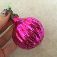 Ёлочная игрушка розовый Сон, СССР