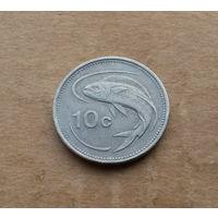 Мальта, 10 центов 1986 г.