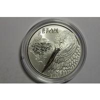 Белый аист, 2009, серебро 20 руб.