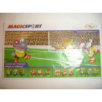 Вкладыш к серии Магнитный футбол (цена за один) из личной коллекции