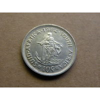 ЮАР 10 центов 1964 года серебро
