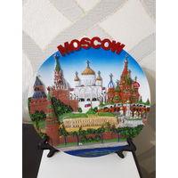 Настенная тарелка Москва