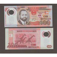 Банкнота Мозамбик 100 метикал 2011 UNC ПРЕСС полимерная