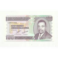 Бурунди. 100 франков. 2010 г.UNS
