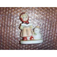 Девочка со снеговиком . Бисквит