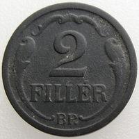 Венгрия, 2 филлера 1944 года, KM#519 (2-я монета)