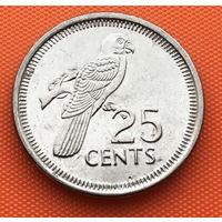123-08 Сейшелы 25 центов 2010 г. Единственное предложение монеты данного года на АУ