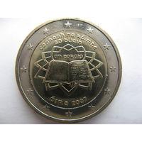 Ирландия 2 евро 2007 г. 50 лет подписания Римского договора. (юбилейная) UNC!