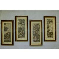 4  Красивейшие гравюры одним лотом.
