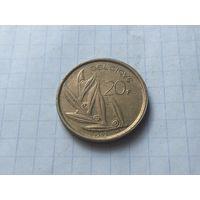 Бельгия 20 франков, 1982 Надпись на французском - 'BELGIQUE' ( 2 )