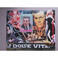 """Международная выставка марок """"ITALIA ' 98"""" - Милан, Италия-киноактеры."""