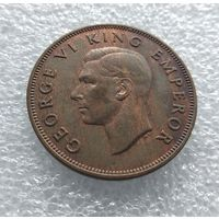Новая Зеландия 1 пенни 1946 г. #10115